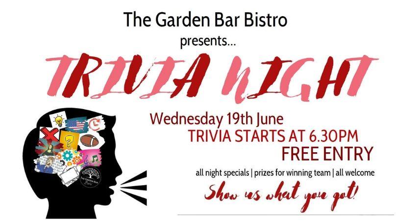 Trivia Night at The Garden Bar Bistro