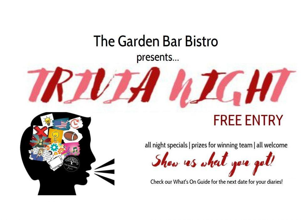 Trivia Night at the Garden Bar