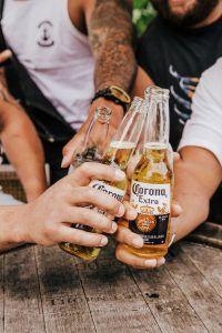 Carona bottles at The Garden Bar Airlie Beach