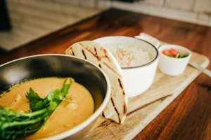 Curry at The garden bar